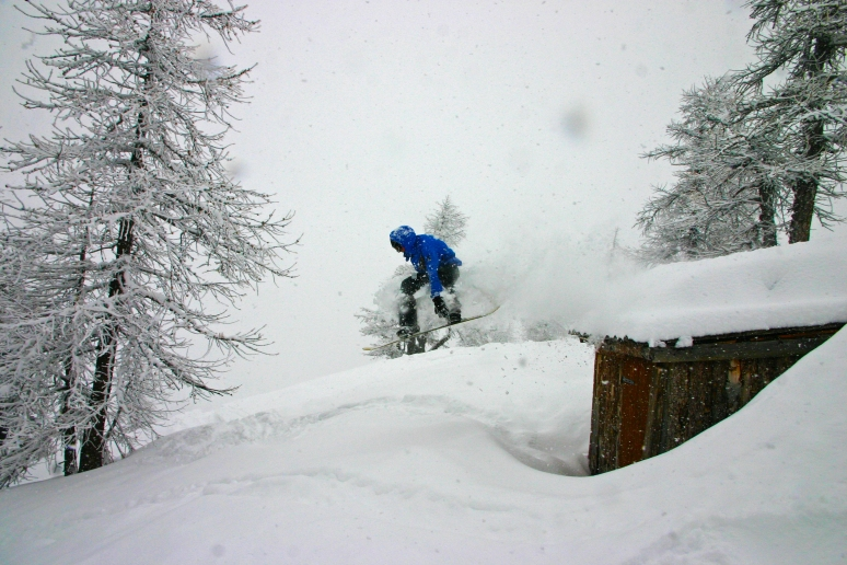 Claviere Powder Day
